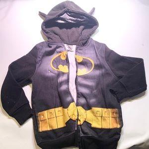 Batman Zip Up Sweater Hoodie Batman Ears 5T